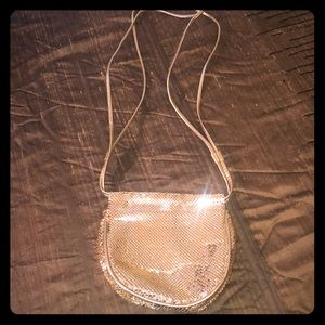 Vintage gold Whiting and David chain mail purse